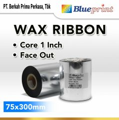 Ribbon Wax Barcode Label 75x300m BLUEPRINT Thermal Transfer Ribbon