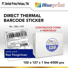 Direct Thermal Sticker Label Resi Online BLUEPRINT 102x127mm 500Pcs