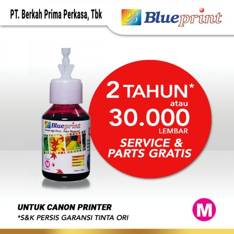 Tinta Tinta Canon BLUEPRINT Refill For Printer Canon 100ml  Merah CP canon magenta 100ml cp membership