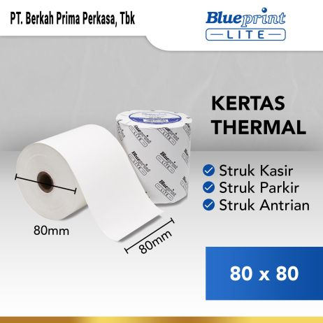 Kertas Thermal Kertas Struk  Kertas Kasir  Kertas Thermal BLUEPRINT Lite 80x80 mm  80x80os kertas thermal lite 80 x 80