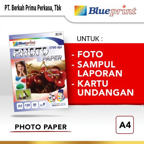 Kertas Foto Kertas Foto  Kertas Glossy  Glossy Photo Paper BLUEPRINT A4 120 gsm photo paper a4 120gsm