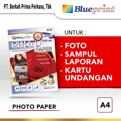 Kertas Foto Kertas Foto  Kertas Glossy  Glossy Photo Paper BLUEPRINT A4 190 gsm  photo paper a4 210gsm