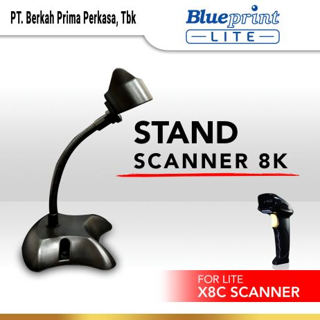 Printer Thermal Stand Barcode Scanner Laser Infrared BLUEPRINT  Hitam stand scanner 8k black