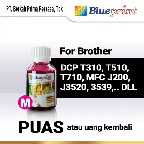 Tinta Tinta Brother BLUEPRINT Refill For Printer Brother 100ml  Merah tinta brother 100 ml  magenta