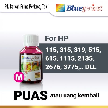 Tinta Tinta HP BLUEPRINT Refill For Printer HP 100ml  Merah tinta hp 100 ml  magenta